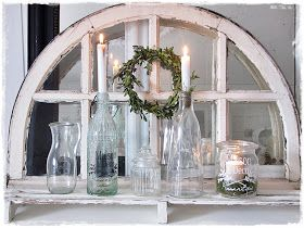 Very pretty display with an old window
