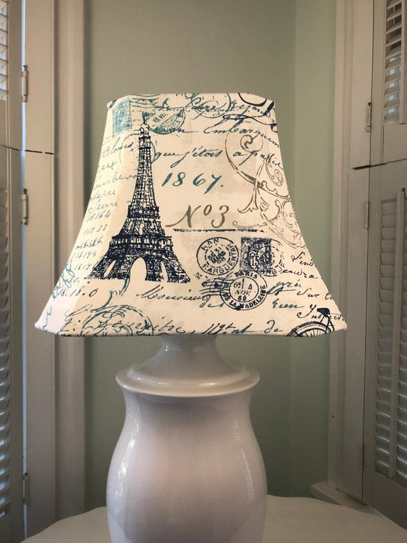 Eiffel Tower Lamp Shade Paris Lamp Shade French Script Lamp Shade French Country Lamp Shade French Lamp Sha Eiffel Tower Lamp Lamp Shade French Lamp Shades
