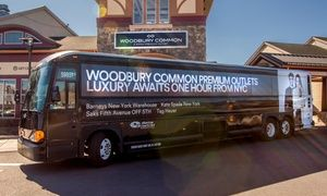 Groupon - $ 25 for Round-Trip Service to Woodbury Common Premium Outlets from ShortLine/Coach USA ($42 Value)    in Short Line/Coach USA. Groupon deal price: $25