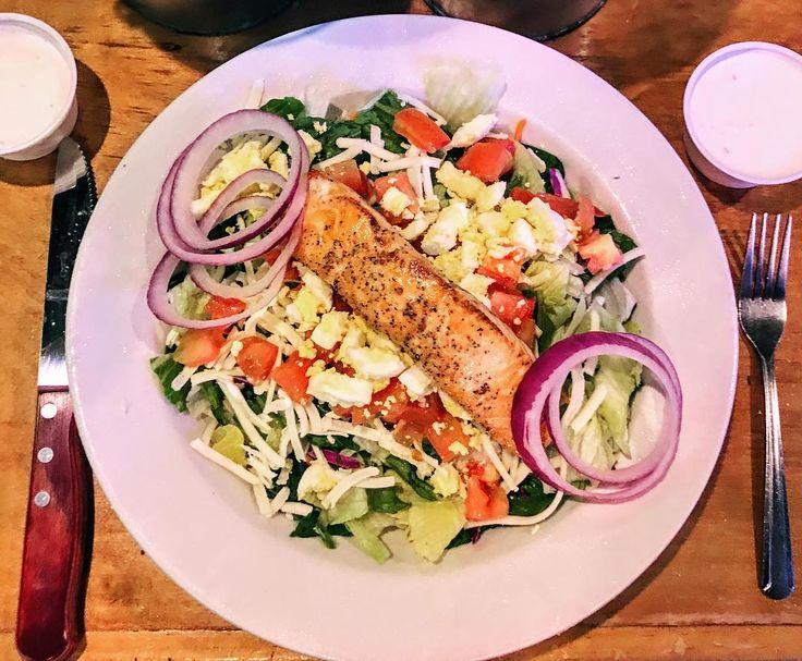 @Texas Roadhouse - Grilled Salmon Salad