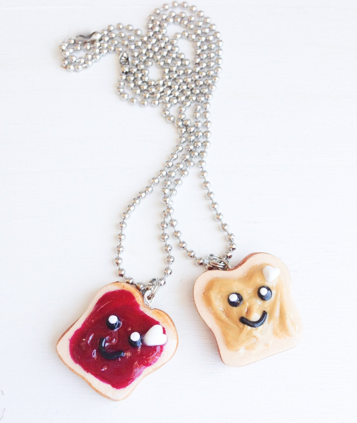 Set of Two: Best Friends Necklaces - We Go Together Like PB - BFF Necklaces - Gifts for Best Friends - Little Girl Gift. $20.00, via Etsy.