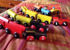 Lot Of 13 Wooden Ikea Train Engine Cargo Cars Compatible With Thomas IKEA Brio  Price 1.49 USD 1 Bids. End Time: 2017-02-17 16:46:43 PDT