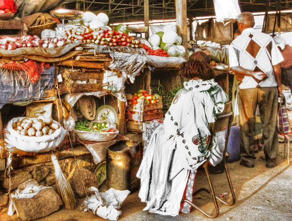 Asmara Érythrée  market by M-AlJabarty