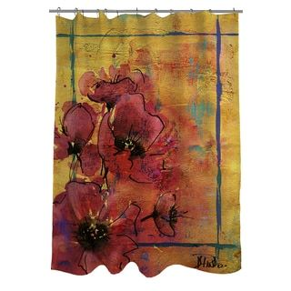 Shop for Thumbprintz Artistic Poppy I Shower Curtain. Get free delivery at Overstock.com - Your Online Bath