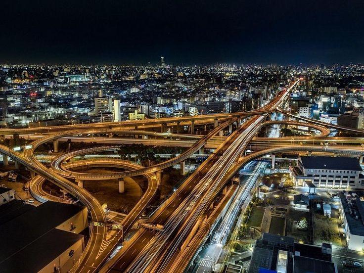 Ночная Осака, Япония