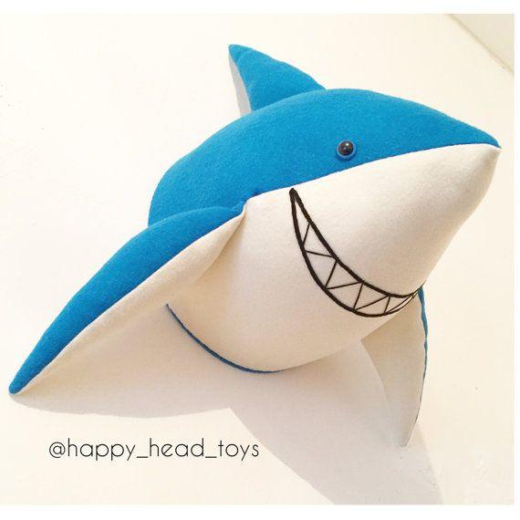 Friendly big shark  head Faux taxidermy. Shark от HappyHeadToys