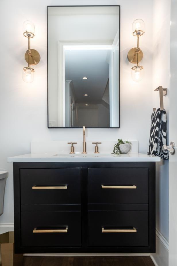 21++ Powder room black vanity best
