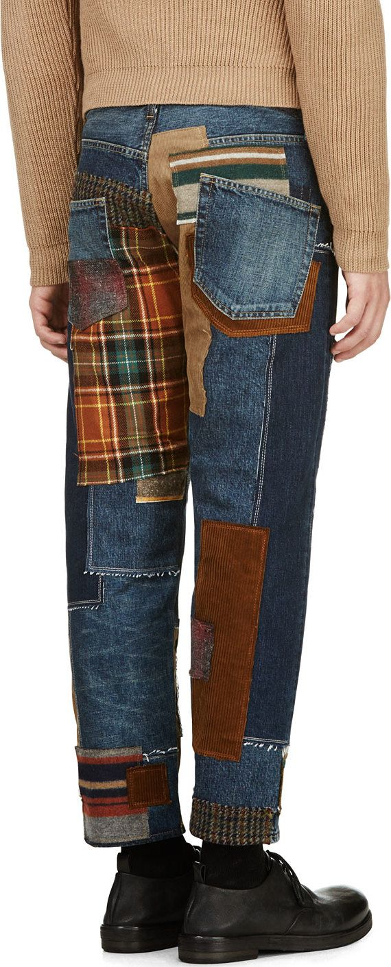 Junya Watanabe: Blue Patchwork Jeans