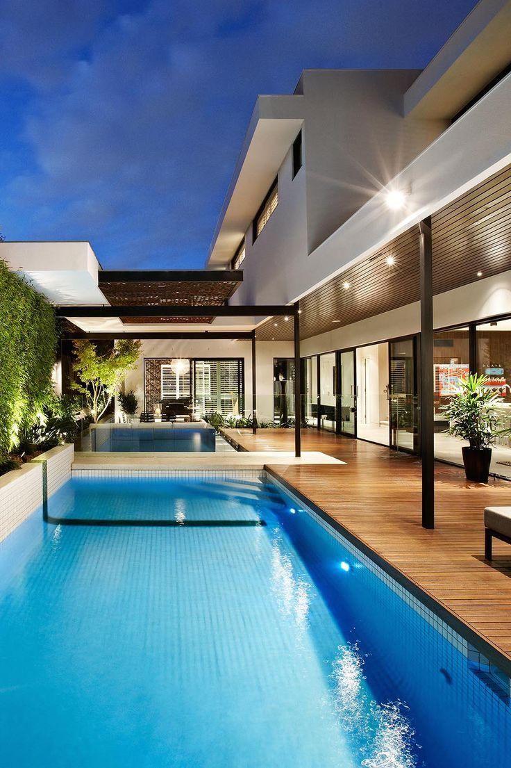 25 melhores ideias sobre arquitetura moderna no pinterest for Casa moderna piscina