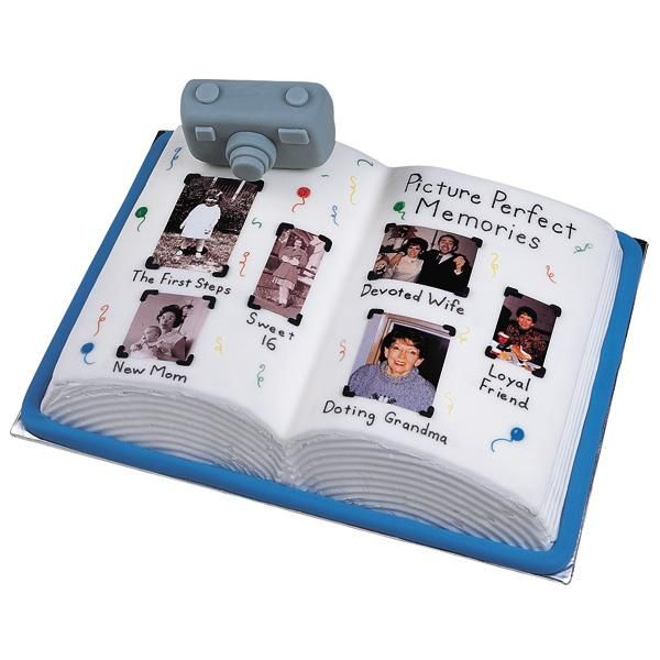 A Picture Of Contentment Cake - Use real photos to make your cake A Picture of Contentment. Celebrate the occasion by adding laminated photographs to this picture album cake.
