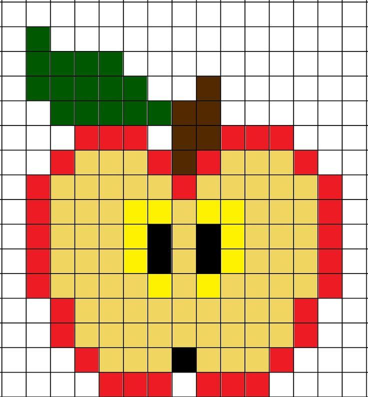 Elenarte: Manzanas con hama beads