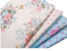 2016 новое поступление 2 шт. 40 * 50 см / lot хлопок печать на ткани цветы лоскутное tecido швейные tissus Seriers DIY ткань одеяла A8(China (Mainland))