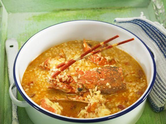 Langusten-Reis-Topf ist ein Rezept mit frischen Zutaten aus der Kategorie Reis. Probieren Sie dieses und weitere Rezepte von EAT SMARTER!