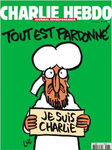 Une de charlie Hebdo 14 janvier 2015