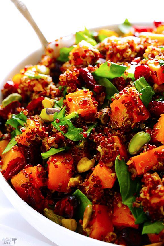 Quinoa 'Stuffing' (Quinoa with Butternut Squash, Cranberries & Pistachios)   gimmesomeoven.com #glutenfree #vegan