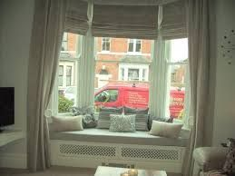 Image result for CURTAINS AND BLINDS FOR BAY WINDOW WITH WINDOW SEAT