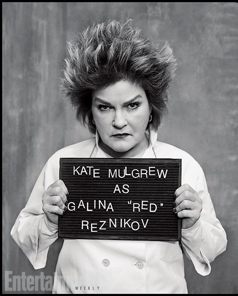 Orange Is the New Black | Played by: Kate Mulgrew Rap Sheet: After being told to pack her knives last season, the former culinary queen is a...
