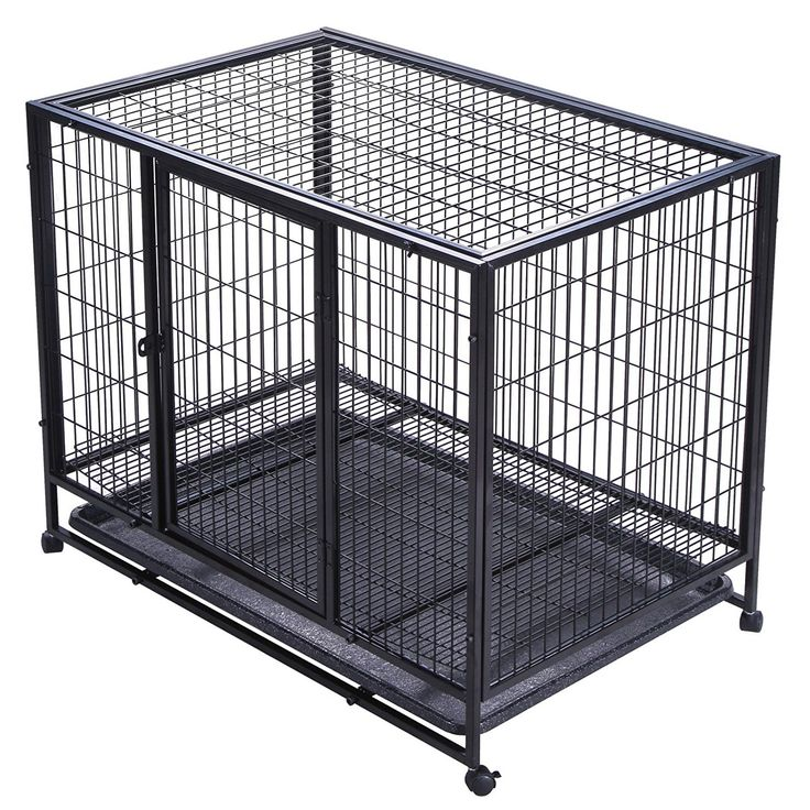 mophorn dog crate heavy duty metal dog cage double door dog kennels and crates indoor pet playpens for dogs tray easy install see this awesome image