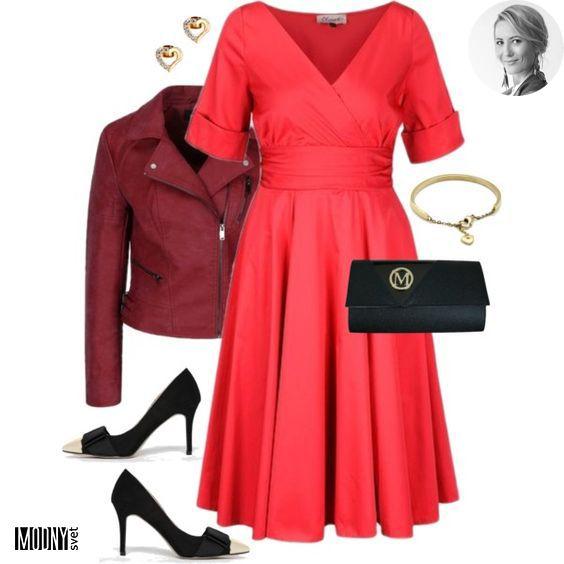 Chcete vedieť, ktorá z farieb je TOP farbou tejto jesene? 🔝Pri pohľade na tento outfit vám je to už určite jasné😄Presne tak, je to červená❤Ja som skombinovala tieto úžasné dievčenské šaty s absolútne bombastickou vínovou koženkou a originálnymi čiernymi lodičkami so zlatou špičkou👌Ešte listovú kabelku, jemné šperky a môžete vyraziť napríklad na svadbu, alebo narodeninovúViac