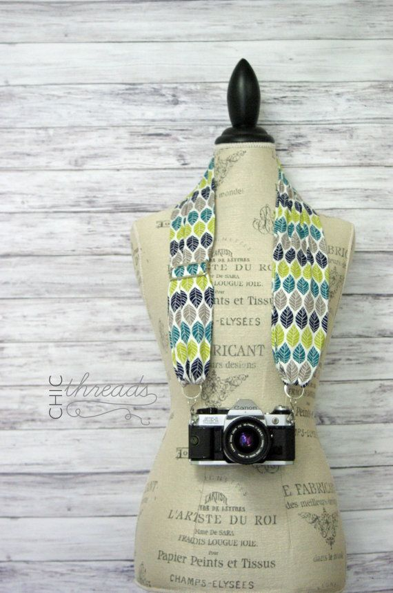 Scarf Camera Strap Camera Lover Gift Camera by ChicThreadsbyAmy
