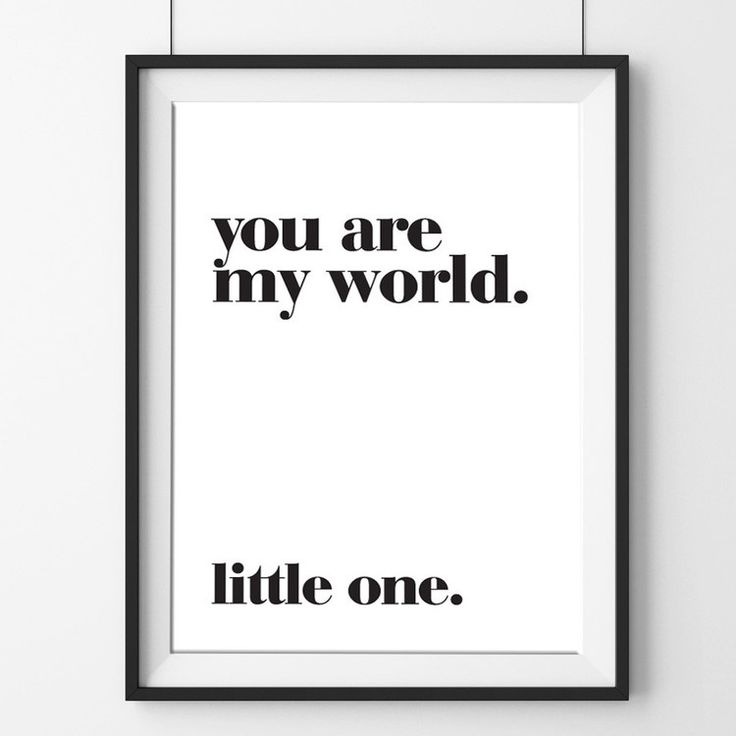 MEENY MINY - 'You are my world......little one' A3 Print