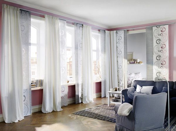 Ikea panel curtains sur pinterest une s lection des for Rideaux porte fenetre salon