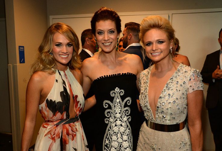 (L-R) Carrie Underwood, Kate Walsh, and Miranda Lambert attend the 2014 CMT Music Awards at Bridgestone Arena on June 4, 2014 in Nashville, Tennessee.
