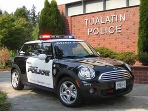 "This is the ""Special Events Vehicle"" for the Tualatin Police Department, in Tualatin, Oregon! #police #minicooper"