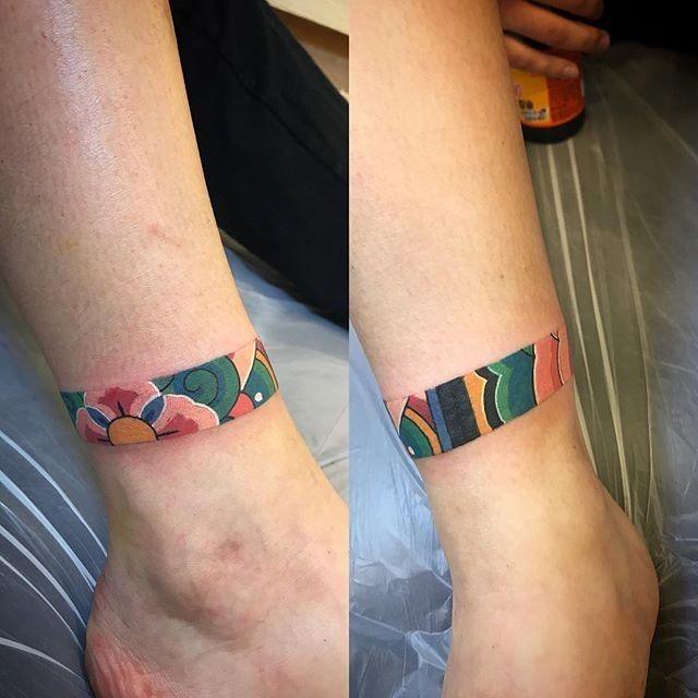 Korean Band Tattoo Ankle Band Tattoo Cuff Tattoo Maori Tattoo