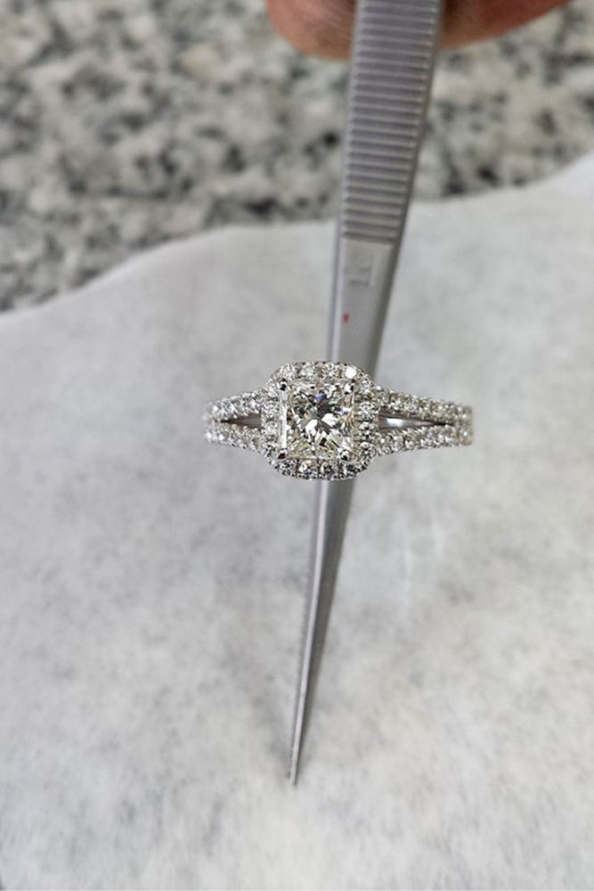 White Gold Engagement Rings That Every Bride Wants ❤ See more: http://www.weddingforward.com/white-gold-engagement-rings/ #weddings