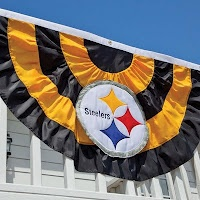 Pittsburgh Steelers bunting banner from Evergreen Enterprises' Team Sports America division.