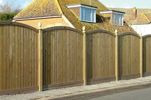 fence panels | Tongue and Groove Fence Panels - Convex top