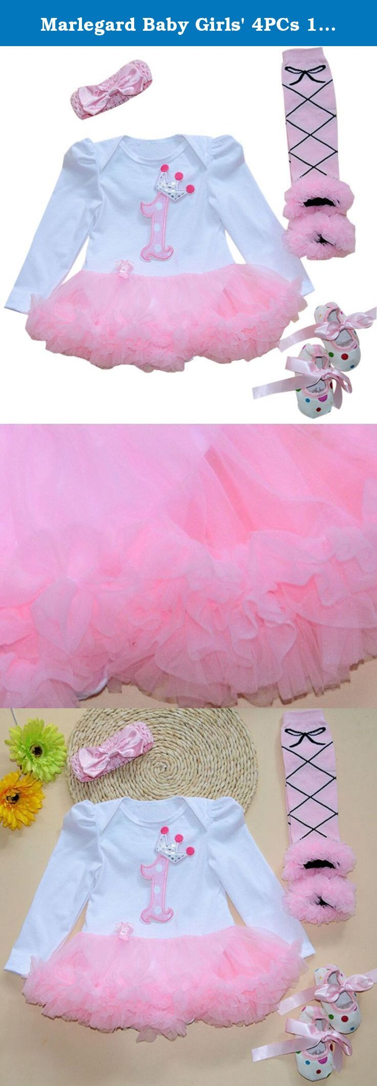 Marlegard Baby Girls' 4PCs 1st Pink Birthday Tutu Dress Headband Shoes Leggings. Warm note: all items are made and shipped from China to USA via China Post Epacktet (USPS in USA) usually taking 10-30days to deliver. Usually items will be shipped out within 3business days and will trace shipping status often online after item shipped, any news, will inform you at once via email. .