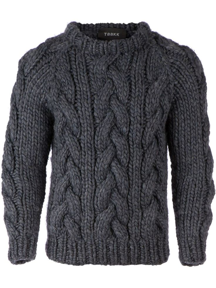 Knitting Patterns For Chunky Wool Sweaters : Best 25+ Mens knit sweater ideas only on Pinterest Mens sweaters, Man ...