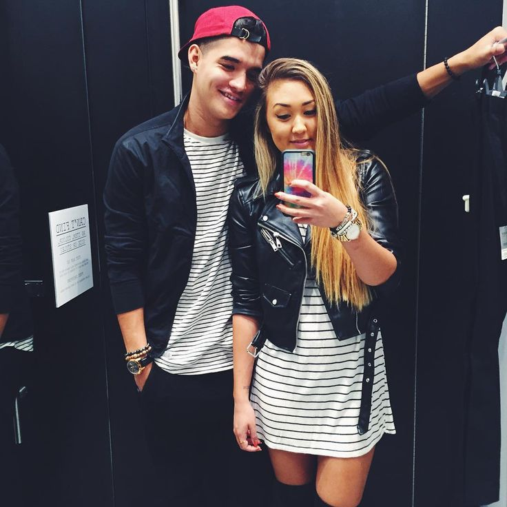 """just tryna wear a cute fall outfit & @alexwassabi is totally killing my vibe  #twinning #iwasdressedfirst #laurex"""