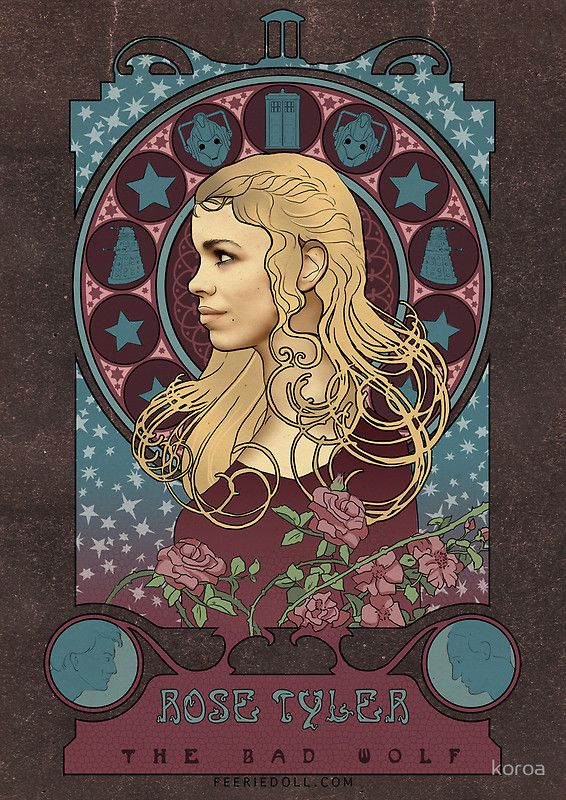 Rose Tyler art nouveau , Doctor Who , TARDIS by koroa. Ummmmm this is AWESOME!!! @Lynne {Papermash} {Papermash} {Papermash} Grant Diskin