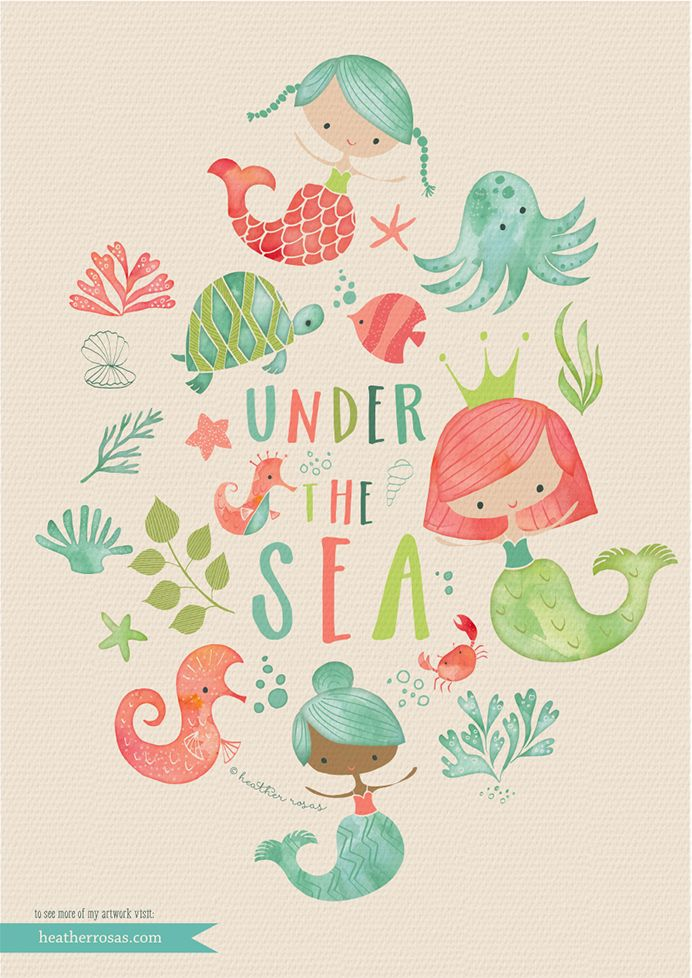 Under the Sea | by the amazing Heather Rosas Illustration