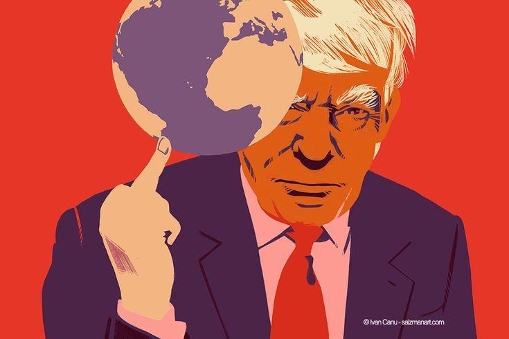 @Ivan Canu salzmanart.com client: die Zeit: Fuck the planet 2 (Trump's series) #editorial #trump #politics #planet #magazine #earth