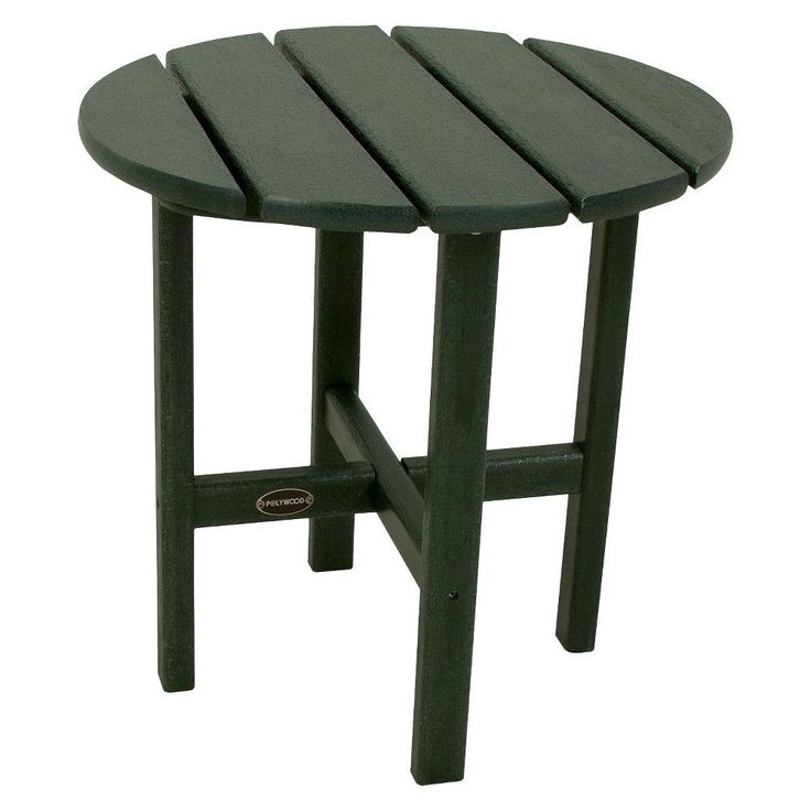 Polywood Round Patio Side Table   GreenBest 10  Patio side table ideas on Pinterest   Coffee table cover  . Patio Side Table Woodworking Plans. Home Design Ideas