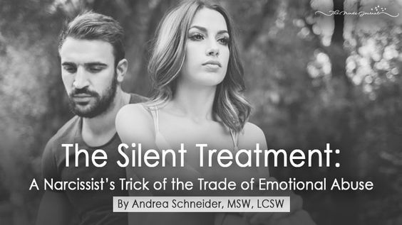 The Silent Treatment: A Narcissist's Trick of the Trade of Emotional Abuse - http://themindsjournal.com/silent-treatment-emotional-abuse/