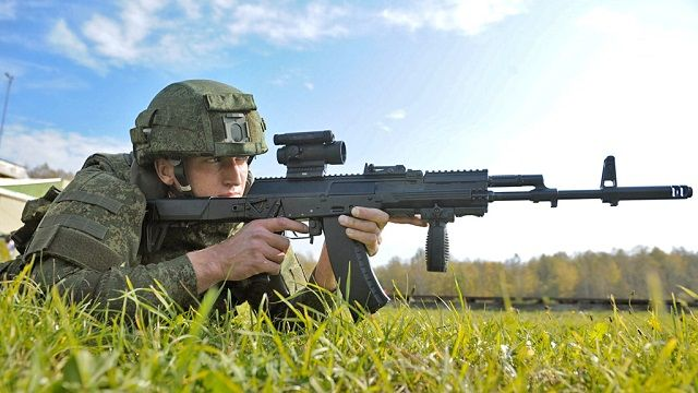 AK-12 Russia has selected the AK-12 and the AK-103-4 as the new service rifles for its army. Both firearms are manufactured by Kalashnikov Concern, which is