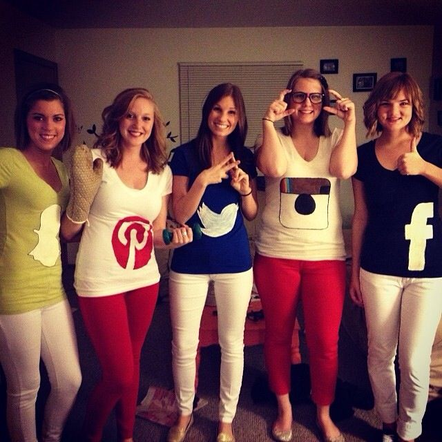 Apps! Clever group costume. Group Halloween Costumes adult men women #ipod #app #halloween