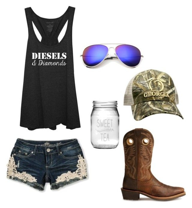 """I wanna move to Georgia"" by johndeerebabe on Polyvore featuring Ariat, Susquehanna Glass, Almost Famous and Realtree"