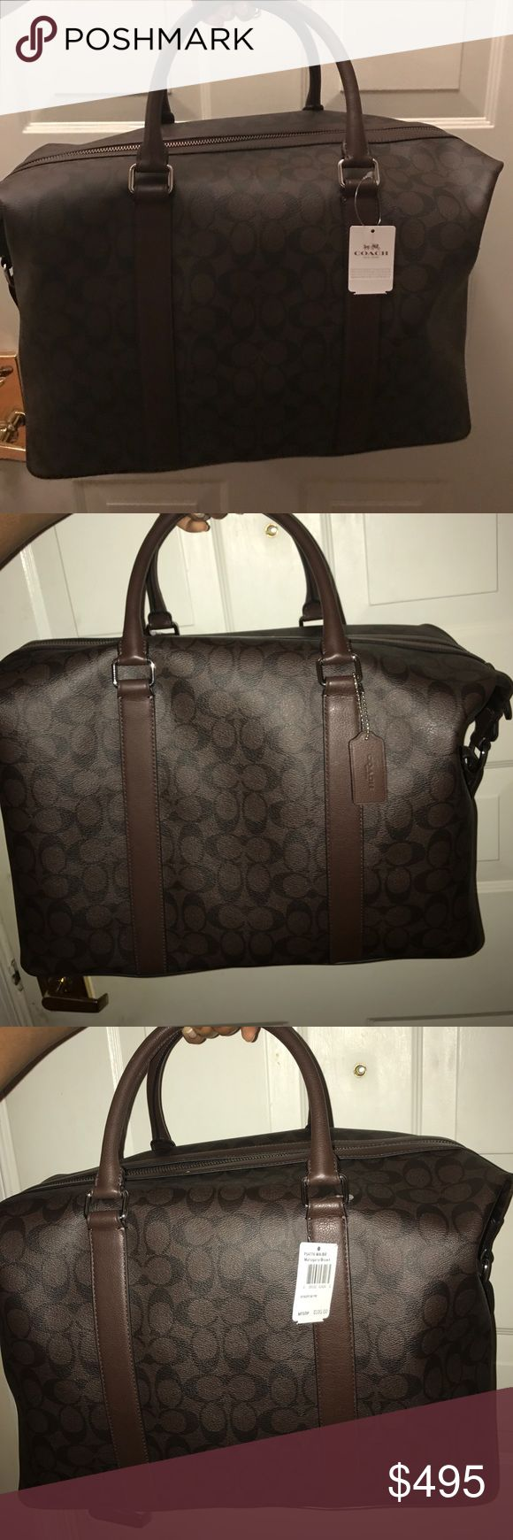 Coach Travel bag Mahogany/ Brown Coach Carry On. Fits in over head compartment. Authentic. Original price 595.00 Coach Bags Travel Bags