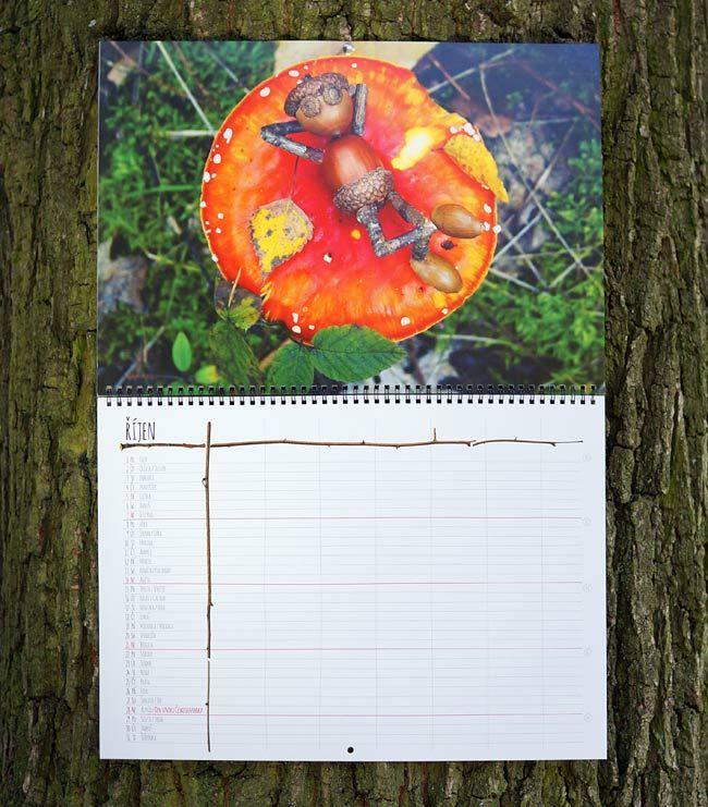 Fotka skutečného zavěšeného kalendáře