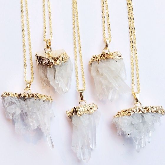 Selene Quartz Necklace - Druzy Dreams