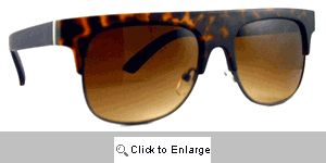 BMOC Flat Bridge Sunglasses - 167 Tortoise