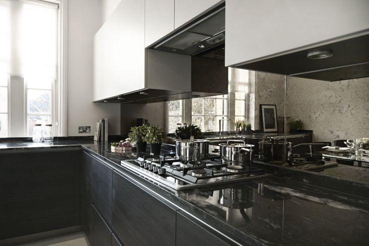 Kitchen Highlight Antique Mirror Splashback Kitchen