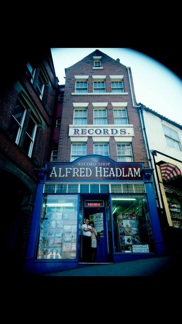 Record Shop Whitby 1980 taken from Shutting up Shop