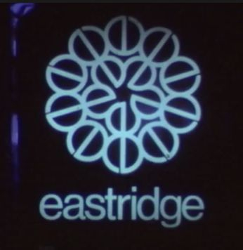 """Old Eastridge Mall logo made up of lower case """"e"""""""